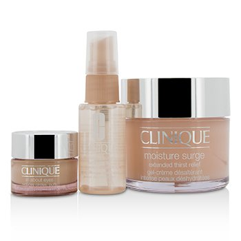 クリニーク Moisture Surge Set: Moisture Surge 125ml + All About Eyes 15ml + Moisture Surge Face Spray Thirsty Skin Relief 30ml  3pcs