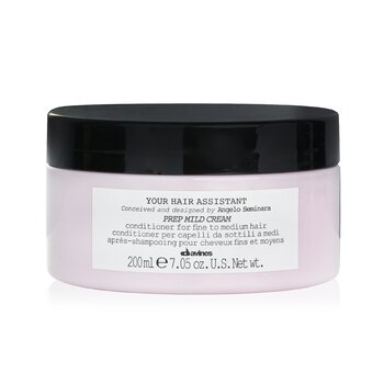 ダヴィネス Your Hair Assistant Prep Mild Cream Conditioner (For Fine to Medium Hair)  200ml/7.05oz