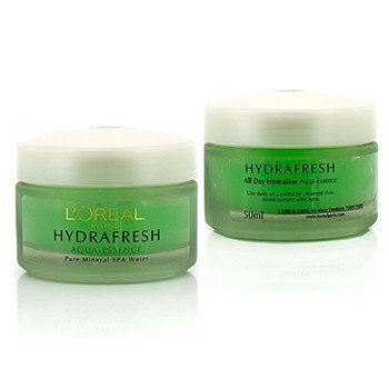 L'Oreal Dermo-Expertise Hydrafresh All Day Hydration Aqua Gel Duo Pack - For All Skin Types (Unboxed)  2x50ml/1.7oz