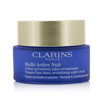 Clarins Multi-Active Night Targets Crema de Noche Revitalizante Para Líneas Finas - Para Piel Normal a Mixta  50ml/1.6oz