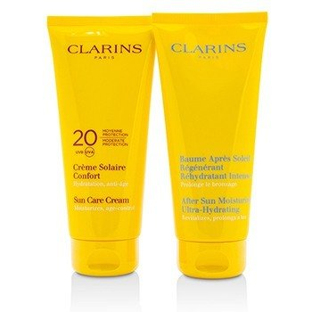 Summer Essentials Set: Sun Care Cream SPF 20 200ml/7oz + After Sun Moisturizer 200ml/7oz  2pcs