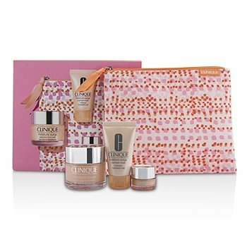 Clinique Zestaw Moisture Favourites Set: Moisture Surge 50ml + Overnight Mask 30ml + All About Eyes 5ml + Bag  3pcs+1bag