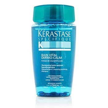 Kerastase Specifique Bain Vital Dermo-Calm Cleansing Soothing Shampoo (Sensitive Scalps, Combination Hair)  250ml/8.5oz