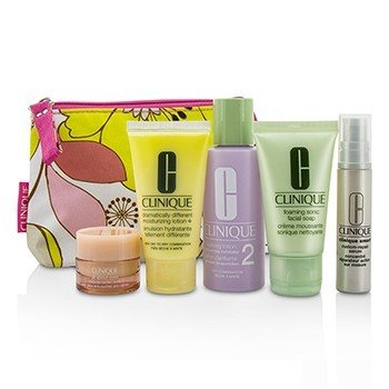 Travel Set: Facial Soap 30ml + Lotion 2 60ml + DDML 30ml + Serum 10ml + All About Eyes 7ml + Bag  5pcs+1bag
