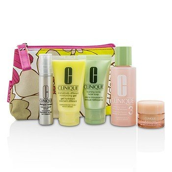 Travel Set: Facial Soap 30ml + Lotion 3 60ml + DDMG 30ml + Serum 10ml + All About Eyes 7ml + Bag  5pcs+1bag
