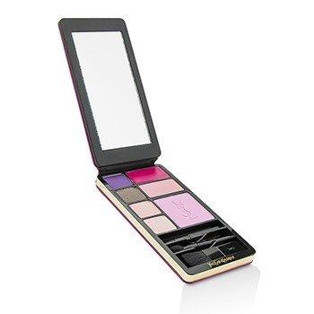 Very YSL Makeup Palette (Fuchsia Edition) (1x Blush, 2x Lipcolour, 4x Eyeshadow, 3x Applicator)  12g/0.43oz