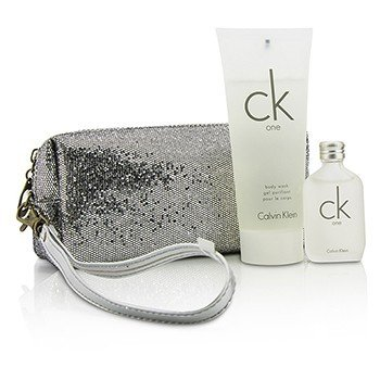 Calvin Klein CK One Coffret: Eau De Toilette 15ml/0.5oz + Body Wash 100ml/3.4oz + Bag  2pcs+bag