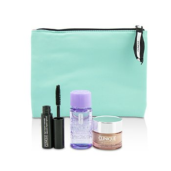 Travel Set: All About Eye 15ml + Mascara 3.5ml + Eye Makeup Remover 30ml+1Bag  3pcs+1bag