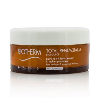 Biosource Total Renew Balm Balm-To-Oil Deep Cleanser - For Face & Eyes & Waterproof Make-Up  125ml/4.22oz