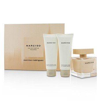 Narciso Rodriguez Narciso Poudree Coffret: Eau De Parfum Spray 90ml/3oz + Body Lotion 75ml/2.5oz + Shower Gel 75ml/2.5oz  3pcs