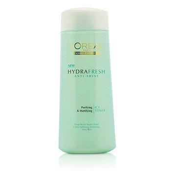 L'Oreal Dermo-Expertise Hydrafresh Anti-Shine Purifying & Mattifying Icy Toner - For Shiny Skin (Manufacture Date: 10/2013)  200ml/6.7oz