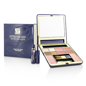 Estée Lauder Travel Exclusive Expert Color Palette (2x Blush, 4x EyeShadow, 4x Lipstick, 1x Mini Mascara, 3X Applicator)