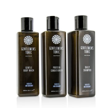 绅士堂  Shower Gift Set: Gentle Body Wash 250ml + Daily Shampoo 250ml + Protein Conditioner 250ml  3pcs