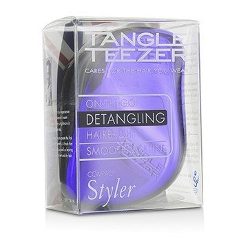 Compact Styler On-The-Go Detangling Hair Brush - # Purple Dazzle  1pc