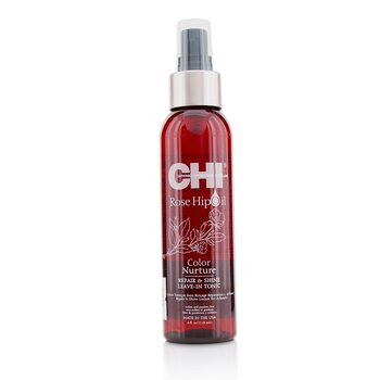 CHI Rose Hip Oil Color Nurture Tónico Sin Enjuague Repara & Da Brillo  118ml/4oz