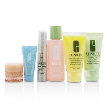 Travel Set: Facial Soap 30ml+Lotion 3 60ml+DDMG 30ml+Smart Serum 10ml+Turnaround Serum 7ml+All About Eyes 7ml+Bag  6pcs+1bag