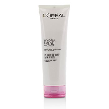 L'Oreal Hydrafresh Anti-Ox Grape Seed Espuma Cremosa Hidratante  125ml/4.2oz