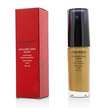 שיסיידו Synchro Skin Glow Luminizing Fluid Foundation SPF 20 פאונדיישן נוזלי - # Golden 5  30ml/1oz