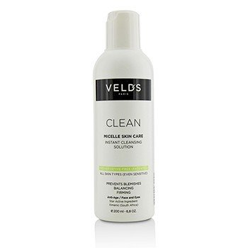 Veld's Clean Micelle Skin Care Instant Cleansing Solution - All Skin Types (Even Sensitive)  200ml/6.8oz