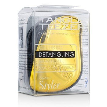 タングルティーザー Compact Styler On-The-Go Detangling Hair Brush - # Bronze Chrome  1pc