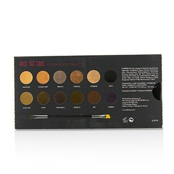 Rock The Croc Eyeshadow Palette (12x Eyeshadow, 1x Double Ended Eyeshadow Brush) 12x0.8g/0.03oz