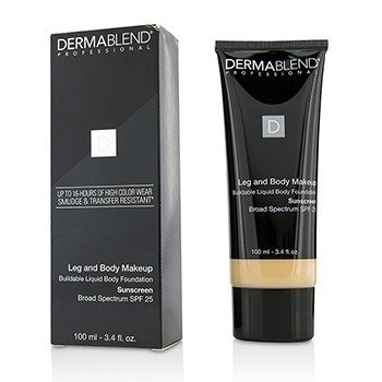 皮肤专家  Leg and Body Make Up Buildable Liquid Body Foundation Sunscreen Broad Spectrum SPF 25 - #Fair Ivory 10N  100ml/3.4oz
