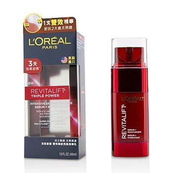 L'Oreal New Revitalift Triple Power Intensive Skin Revitalizer Serum + Moisturizer  48ml/1.6oz