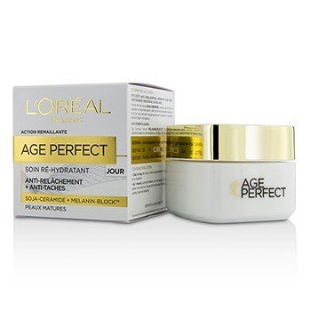 לוריאל Age Perfect Re-Hydrating Day Cream קרם יום - לעור בוגר  50ml/1.7oz