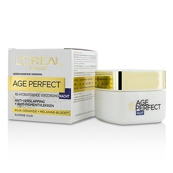 L'Oreal Age Perfect Crema de Noche Re-Hidratante - Para Piel Madura  50ml/1.7oz