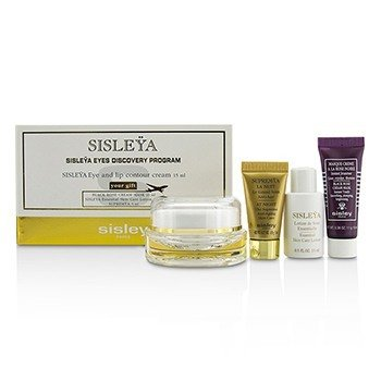 Sisley Sisleya Eyes Discovery Program: Sisleya Eye & Lip Cream 15ml + Black Rose Cream Mask 10ml + Sisleya Lotion 15ml + Supremya 5ml  4pcs