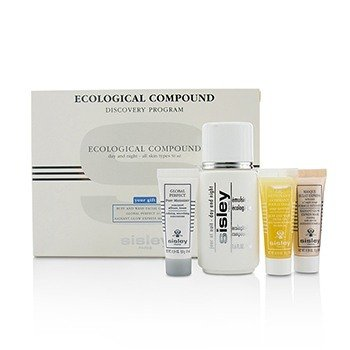Sisley Ecological Compound Discovery Program: Ecological Compound 50ml, Buff  & Wash Facial Gel 10ml, Global Perfect 10ml, Radian...  4pcs