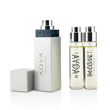 Aqva Pour Homme The Refillable Eau De Toilette Travel Spray  3x15ml/0.5oz