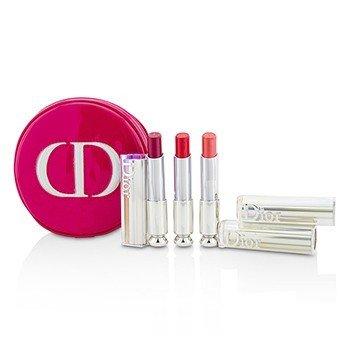 Dior Addict Hydra Gel Core Mirror Shine Lipstick Trio Set  3pcs+1case