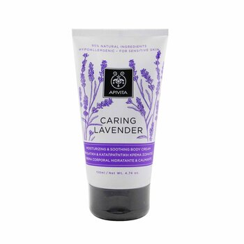 Apivita Caring Lavender Moisturizing & Soothing Body Cream  150ml/4.74oz