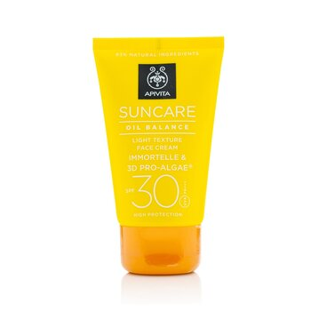 Apivita Suncare Oil Balance Light Texture Face Cream SPF 30  50ml