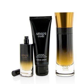 Armani Code Profumo Coffret: Eau De Parfum Spray 60ml/2oz + Eau De Parfum Spray 15ml/0.5oz + All Over Body Shampoo 75ml/2.5oz  3pcs