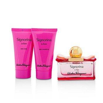 Signorina In Fiore Coffret: Eau De Toilette Spray 50ml/1.7oz + Body Lotion 50ml/1.7oz + Shower Gel 50ml/1.7oz  3pcs