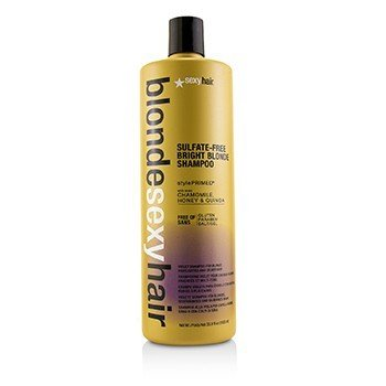 Blonde Sexy Hair Sulfate-Free Bright Blonde Shampoo (For Blonde, Highlighted and Silver Hair)  1000ml/33.8oz