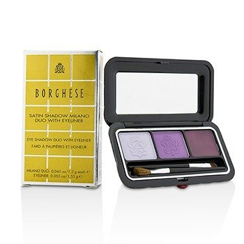 Borghese Eye Shadow Duo With Eyeliner - # 02 Venetian Violet  4.15g/0.145oz