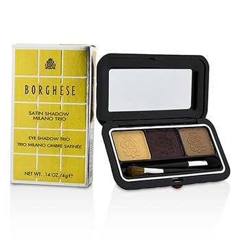 Borghese Satin Shadow Milano Trio - # 06 Romantico Brown  4g/0.14oz