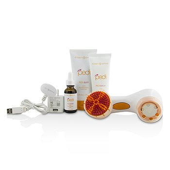 Pedi Sonic Foot Transformation Kit: Pedi-Buff 177ml + Pedi-Balm 100g + Foot Renewing Peel 30ml + Pedi Device + Smoothing Disc + Brush Head + Charger  7pcs