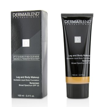Leg and Body Make Up Buildable Liquid Body Foundation Sunscreen Broad Spectrum SPF 25  100ml/3.4oz