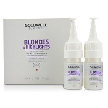 Dual Senses Blondes & Highlights Color Lock Serum (Luminosity For Blonde Hair)  12x18ml/0.6oz