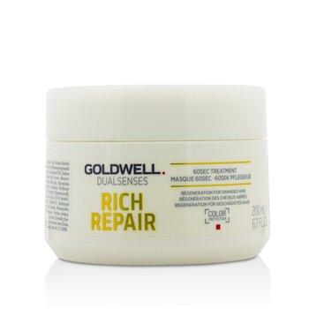 Dual Senses Rich Repair 60Sec Treatment (Regeneration For Damaged Hair)  200ml/6.7oz