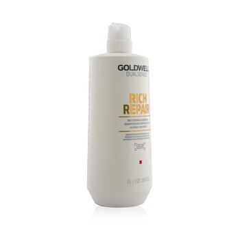 Dual Senses Rich Repair Restoring Shampoo (Regeneration For Damaged Hair)  1000ml/33.8oz