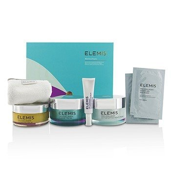 Elemis Marine Dream Coffret: Cleansing Balm + Eye Balm + Marine Cream + Night Cream + Eye Masks + Towel  6pcs