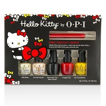 O.P.I Hello Kitty Mini Nail Lacquers Friend Pack  6pcs