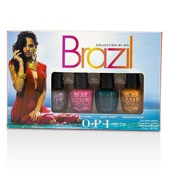 O.P.I Brazil Copacababies Mini Nail Lacquers Set  4pcs