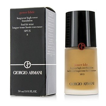 Giorgio Armani Power Fabric Longwear High Cover Foundation SPF 25 - # 8 (Tan, Warm)  30ml/1oz