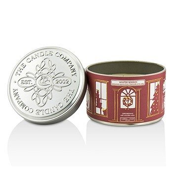 Tin Can 100% Beeswax Candle with Wooden Wick - Winter Berries (Redcurrants, Blackcurrants, Violets & Lily Of The Valley)  (8x5) cm